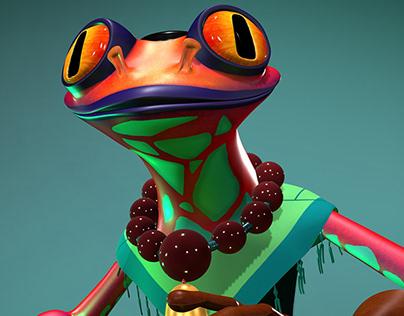 Shaolin Frog - Ran-Chao - Modelado 3D