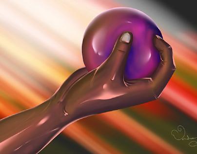 Man With ball illustration