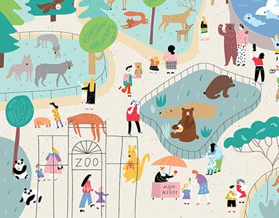Illustrationfor an educational site for children