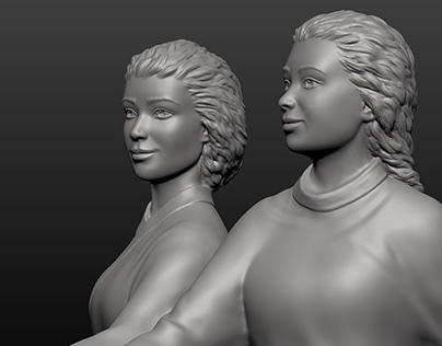 Sculptural Composition - details - The Lower Pair #2