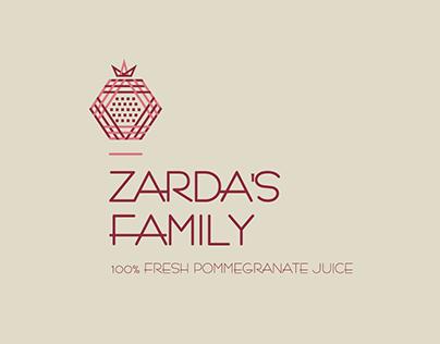 Zardas Family | Pomegranate Juice Logo
