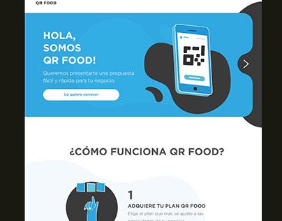 Diseño web para QR Food