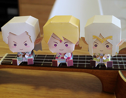 PAPER TOY_Game Characters