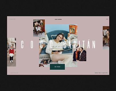 Coco Capitan Website Redesign
