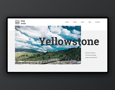 Yellowstone Landing Page — FREE Figma Template