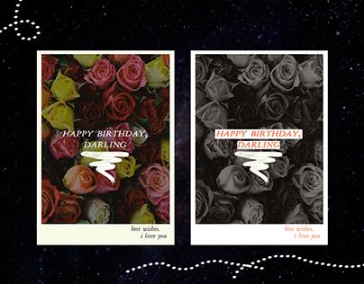 "Postcard ""Happy birthday, darling"""