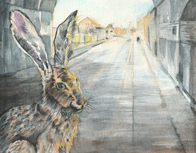 Lockdown Hare, Digbeth, Birmingham