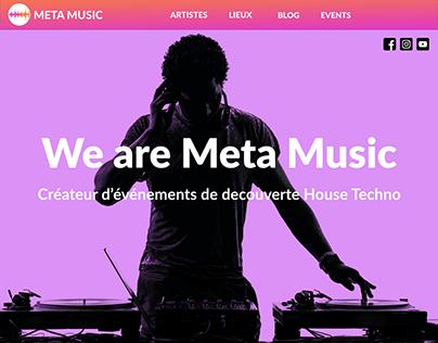 meta music Start up - web design