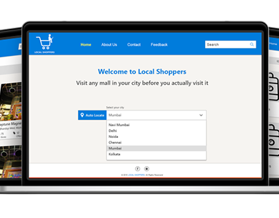 Local Shoppers Website  Design