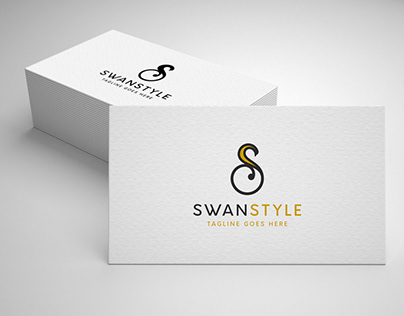 letter s swan logo template for sale