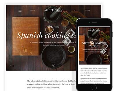 Made for Spain and Portugal · Digital rebranding