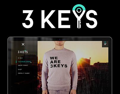 Logo and web-site 3 keys