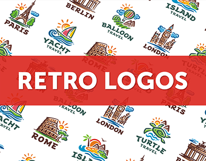 COLLECTION OF RETRO LOGOS