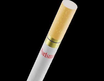 Portsman Cigarettes CGI   Product Visualization