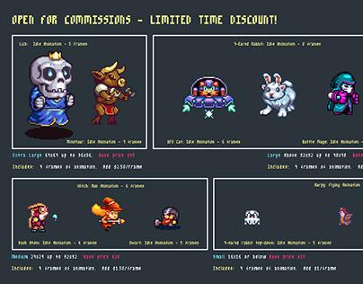 Pixel Art Commision Rates