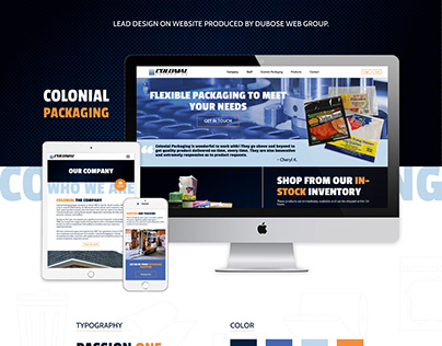 Colonial Packaging Website Design