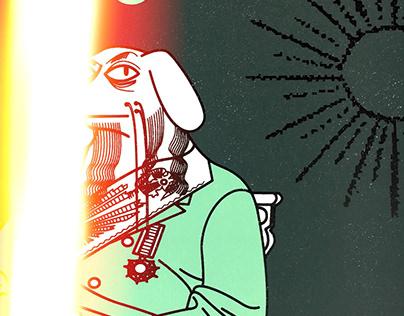 33级狗大师丝网版画+印刷海报