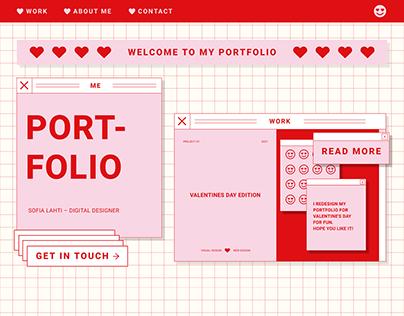 Redesign Portfolio Valentine's Day 2021