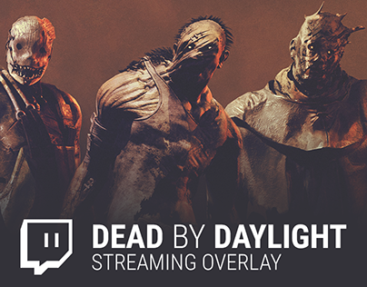 Dead by Daylight themed custom streaming elements