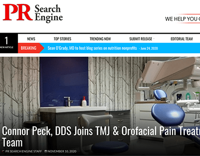 Connor Peck, DDS Joins TMJ Team