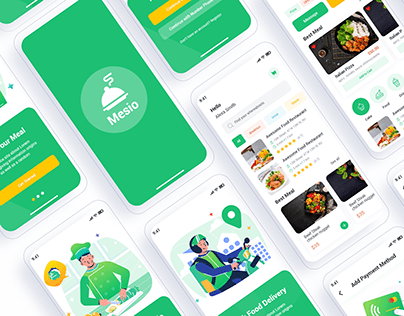 Mesio Food Delivery Mobile App UI Template