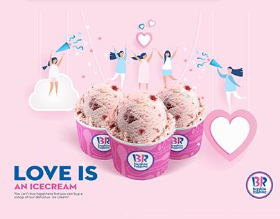 Baskin Robbins Valentine's Day campaign