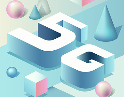 5G Isometric Square Poster