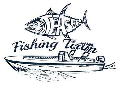 Fishing Team Logo and Layout