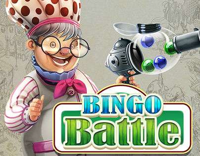 Bingo Battle Game Art and concept design.