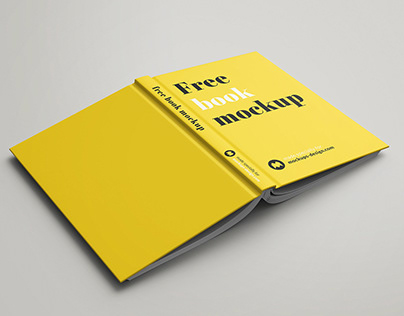 Free Hard Cover Book Mock-Up