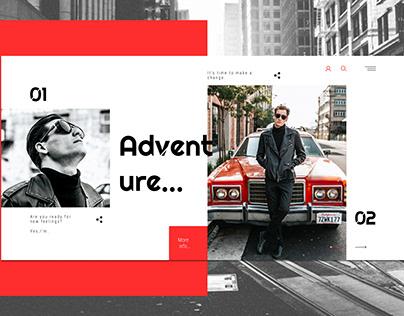 Web site. Men's fashion
