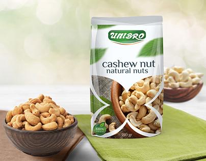 Unibro cashew nuts packing.