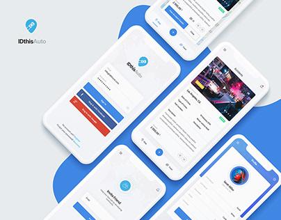 IDthisAuto   Mobile App Design