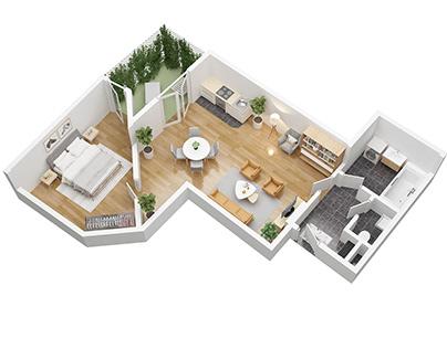 The 3D floor plan-archvizstudio3d