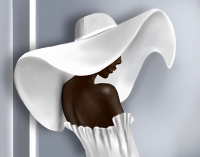 White Hat.  Procreate Drawing