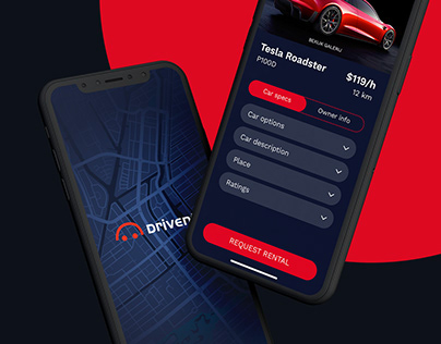 Car Rental App Design