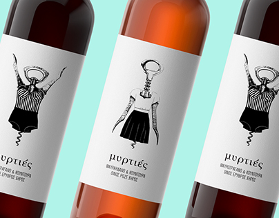 Myrties wine packaging