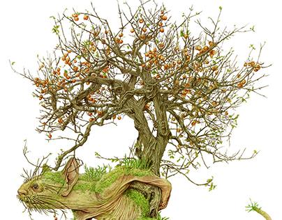 Apple tree monster