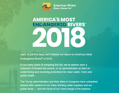 American Rivers Campaign Materials