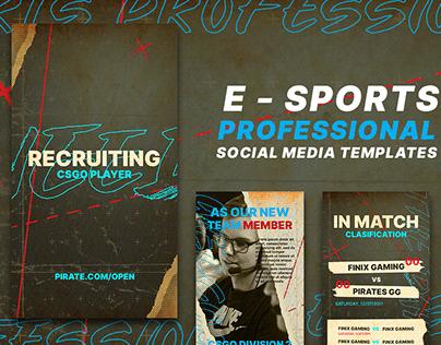 E - Sports Professional Social Media Content