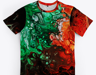 Multicolored All Over T Shirt