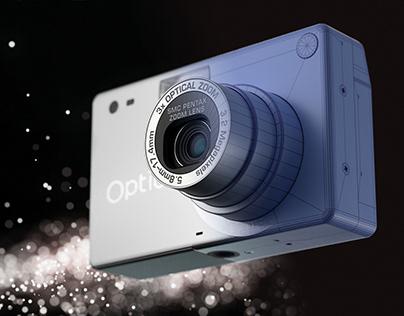 Pentax Optio S4 Camera 3D Model and Render