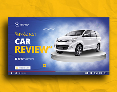 Car Review Youtube Thumbnail Template