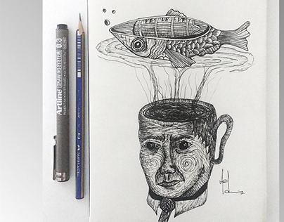 illustration sketch ( ArtLine )
