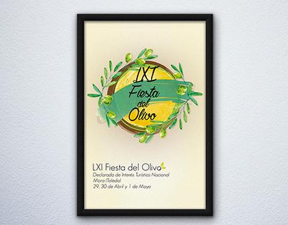 """Cartel """"LXI Fiesta del Olivo"""" de Mora"""