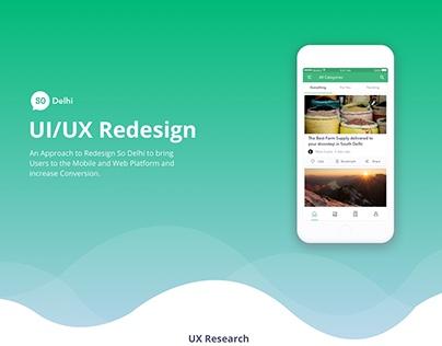 So Delhi UI/UX Redesign Concept