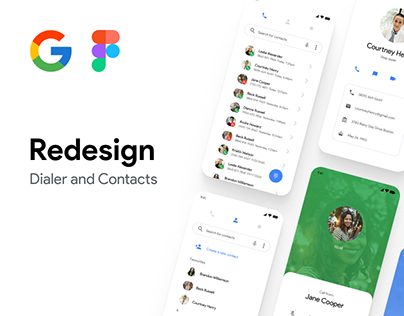 Google (Dialer + Contacts) Redesign