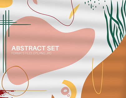 Abstract set. Autumn collection