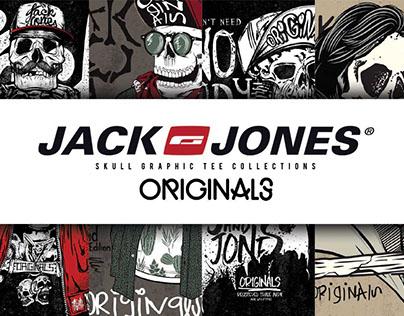 JACK&JONES- SKULL GRAPHIC TEES