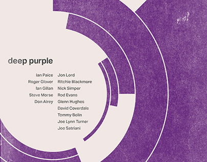 Swiss-Style Tribute Poster to Deep Purple